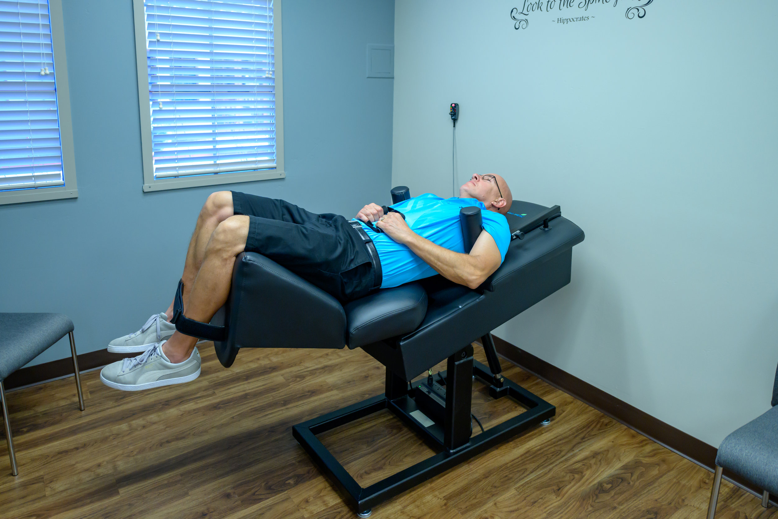 MECHANICAL TRACTION - Mechanical traction, which involves gentle and precise stretching of the spine, may be used to reduce pressure on joints and discs of the spine. This is often helpful for patients with disc bulges or herniations, pinched nerves, sciatica and degenerative disc disease to name a few.