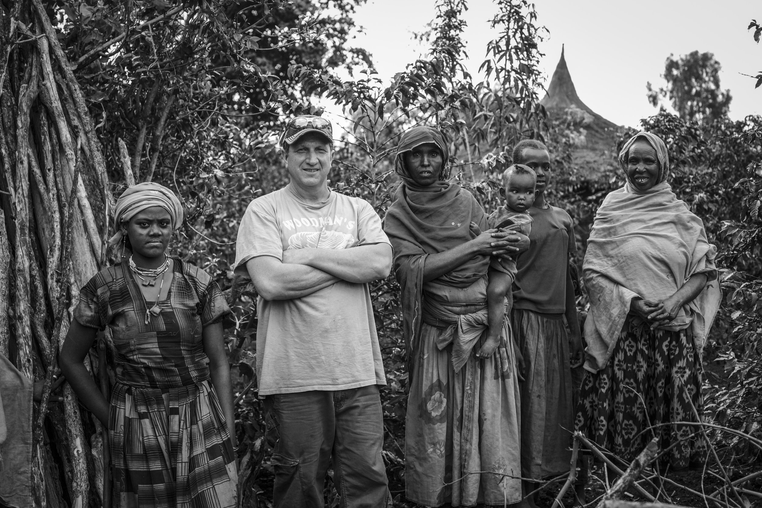 Founder Bob Weeks with the locals of Ethiopia
