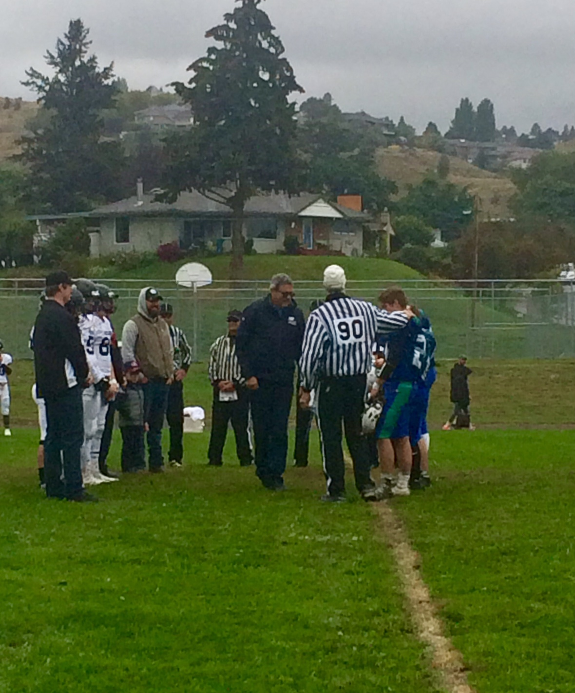 Coin toss at South Kamloops Titans game