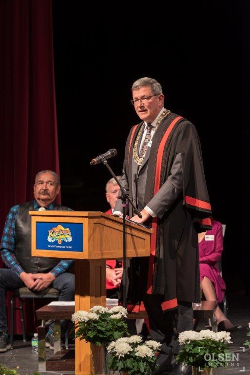 Delivering the Mayor's Address