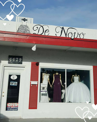 De Novo Formal Dresses - We have a variety of formal gowns for Prom, Informal Bridal, Bridesmaids, Mother of the Bride or Groom or any other social event. We are an authorized retailer for Dancing Queen, GlS, Elizabeth K, Eva USA, ASPEED, Eureka, Juliet and other evening gown providers.4429 N 7th Ave, Phoenix, AZ 85013 / (602) 265-1622