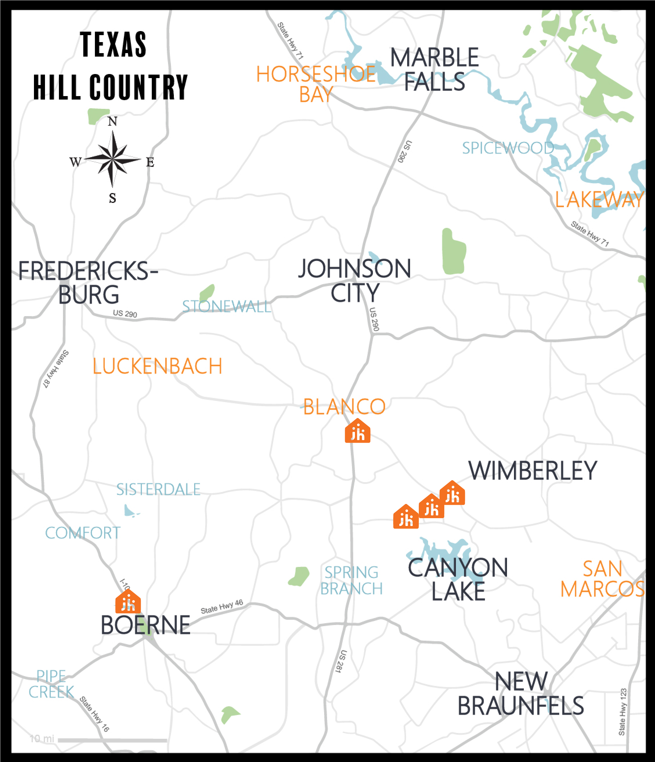 Journey Homes  - Hill Country Map View