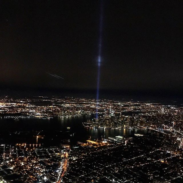 I always take an extra moment during my commute this morning to remember the 3,000 people who never made it home on this day 18 years ago. And this morning, I had the extra reminder by getting to see the Freedom Tower and Statue of Liberty as my train crossed the river. 🗽  I didn't live in New York until 2009, but the impact of this day has always hit deep. Even in my household in Rhode Island I felt it. My neighbor was a flight attendant flying out of Boston that day, my little brother became obsessed with American flags and had an incredible sense of patriotism (and by no coincidence is now a police officer), and I've known many people who lost loved ones. Living here now for a decade, this day always weighs heavy on me, and I can't help but think of the confusion and chaos people must've felt. Always remember. #godblessamerica #unitedwestand #neverforget #911