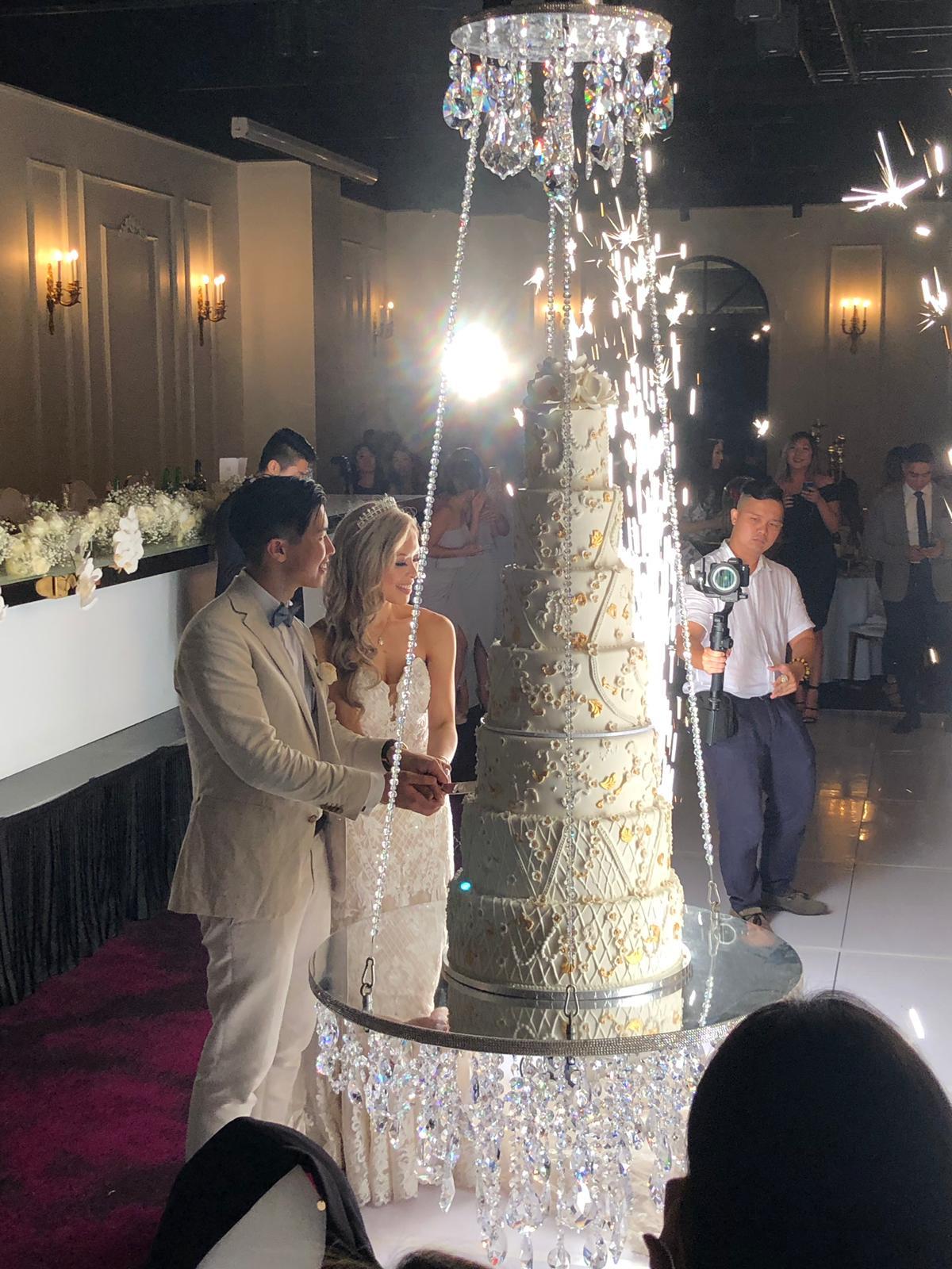 most wonderful cake-cutting moment
