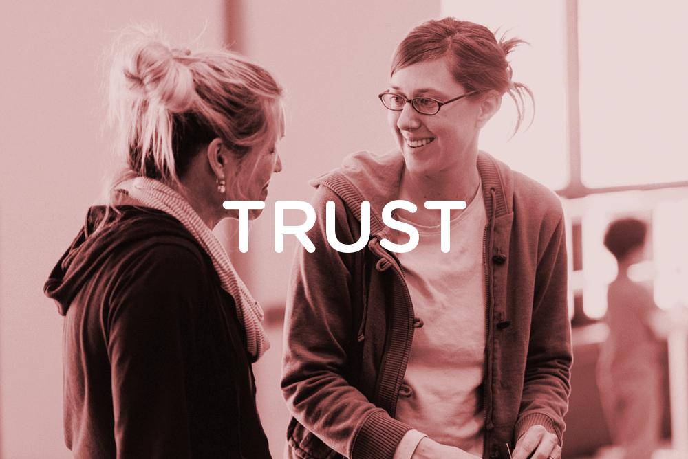 Trust is always building.