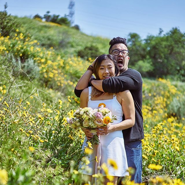 Sometimes, wedding/engagement photoshoots don't need to be so serious. Such an honor to be a part of my beautiful cousin and her derpy fiancé's wedding next month!  #wedding #weddingforist #laweddingflorist #flowers #lawedding #family #love #bouquet #beauty #community #life #floraldesign