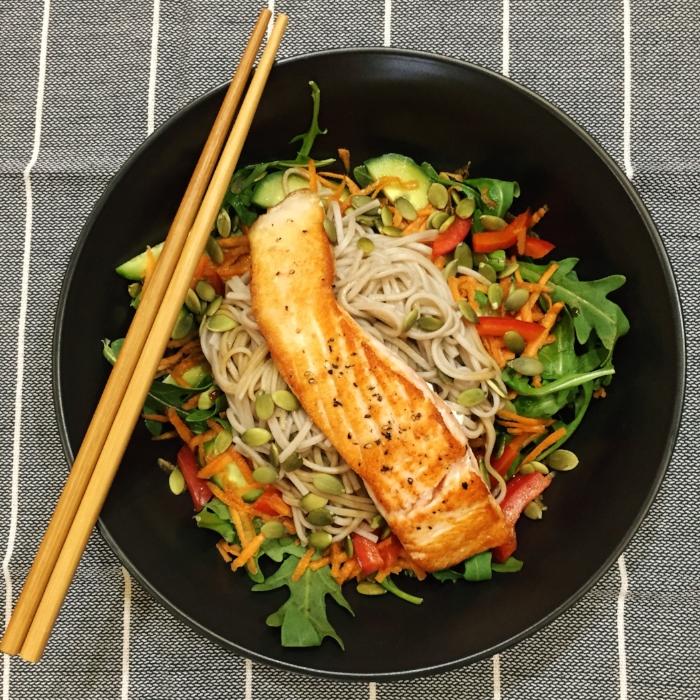 Salmon and soba noodle salad.JPG