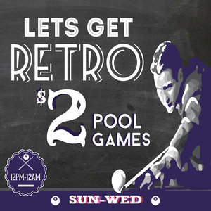Pool - When you're wandering aimlessly around the city looking for something fun to do.. Kill some time and try your mates at a cheeky game of pool and a cold one. Even better, make it a party! Check out our events page for more information.