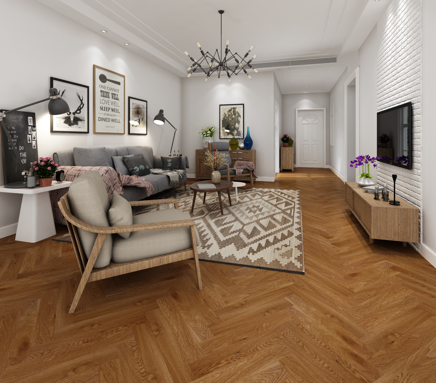 FinFloor Authentic Herringbone Laminate Flooring at Carpet World Flooring Cape Town