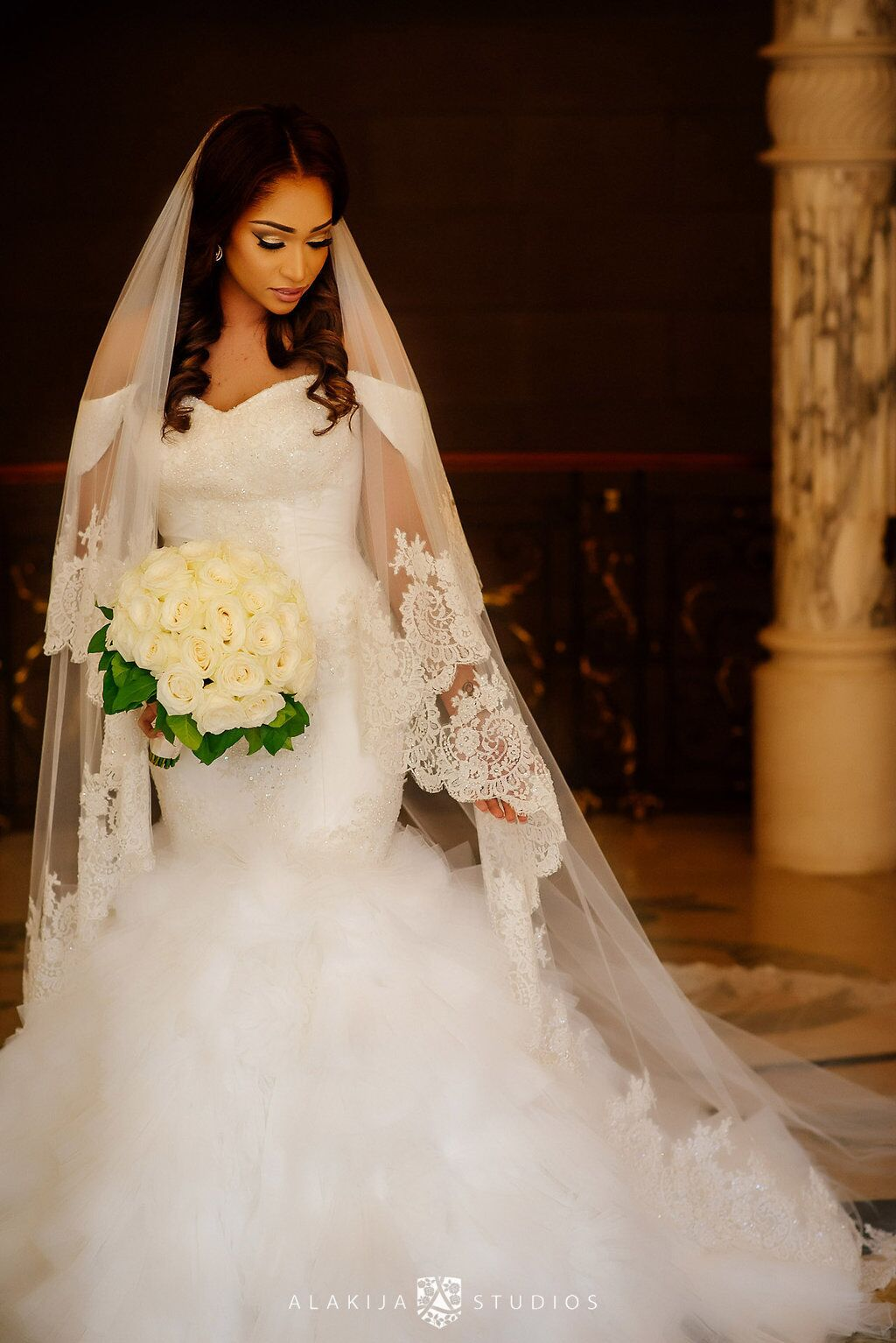 """Kosibah Couture Bridal Gown Layal  """" ….and that is always on my mind and that is what drives me, hence the perfection. My goal with each of my clients is to make sure they feel it was worth the investment that's why I put all that love, care and passion into each gown I create. """" - Yemi Kosibah"""