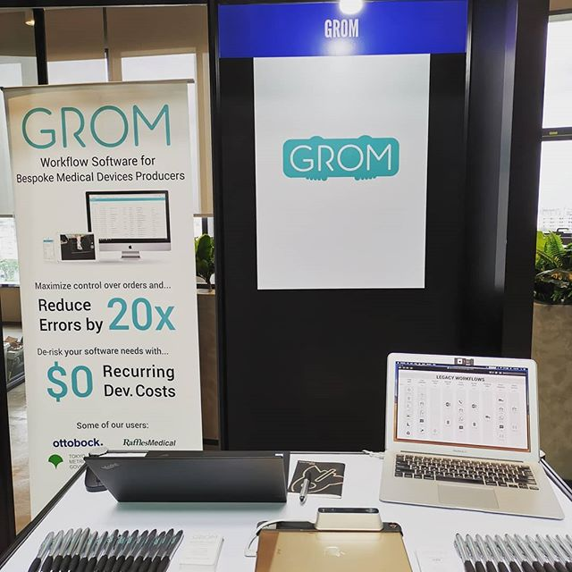 #GROM will be at #startupthailand for the next few days. Come by and say hi to @n1njineer and @kcmunneke!! . . #thailand #bkk #bangkok #startup #healthtech