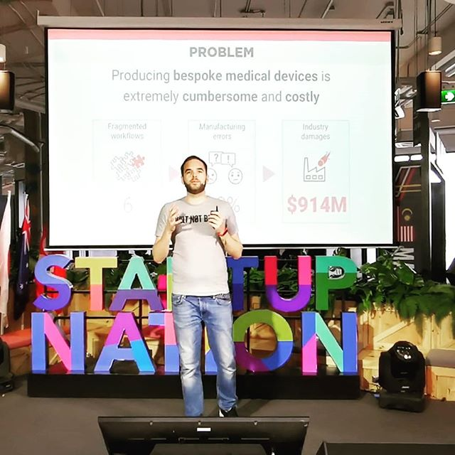 Our CEO @kcmunneke pitching at #startupthailand. What an amazing tech space at True Digital Park, alongside so many international startups.