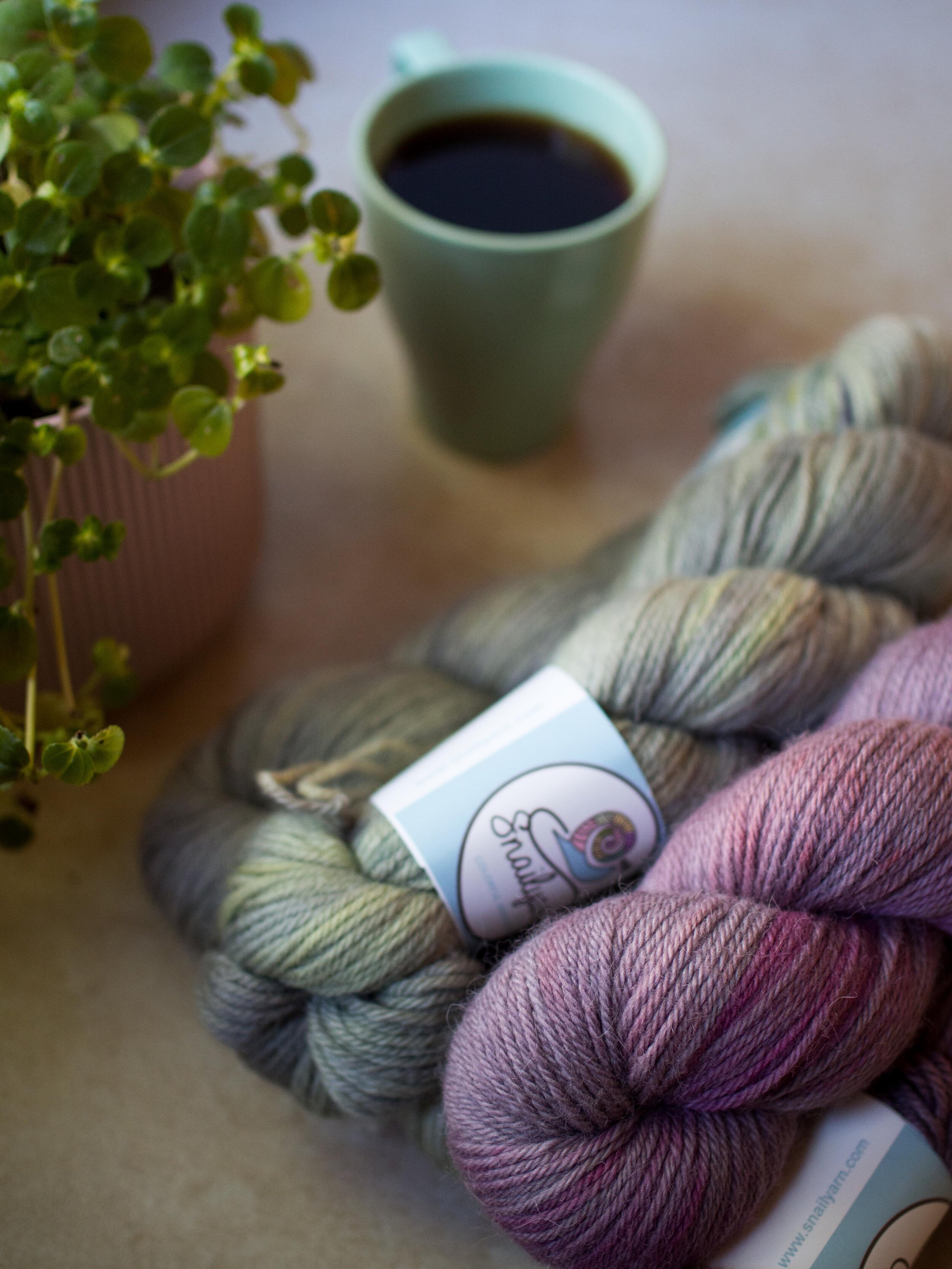 small batches of hand dyed yarn -