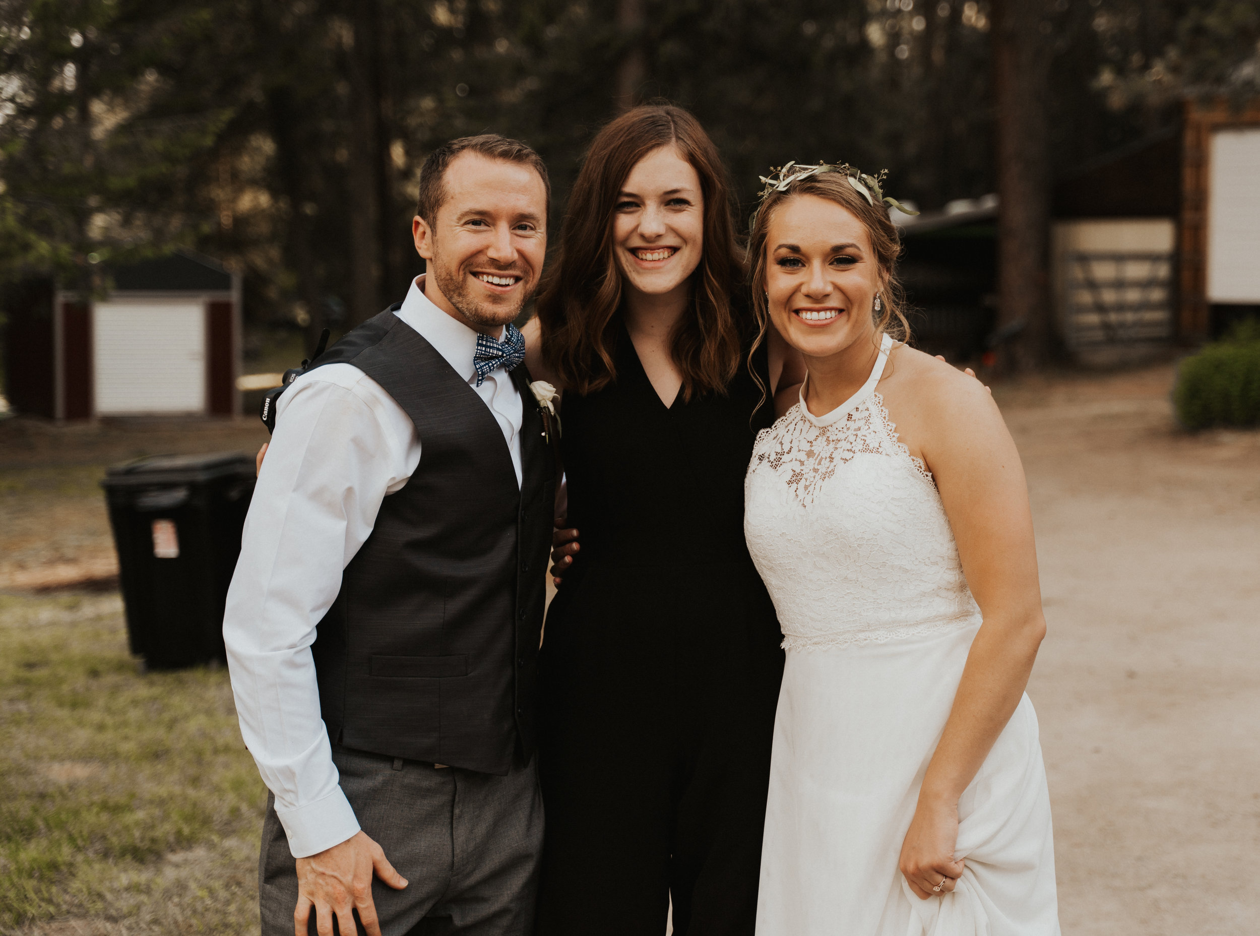 Me, Emily, & Paul - the first couple (who I have sooo much love for) to ever book me for a wedding!
