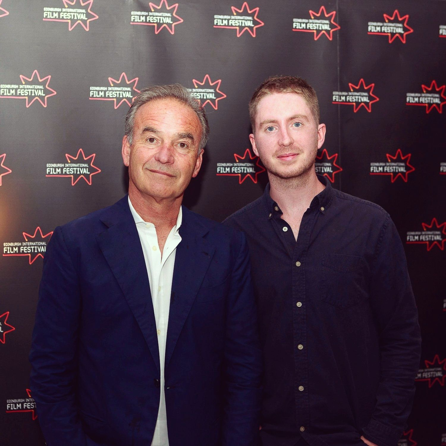 Nick Broomfield and Kyle Gibbon showing  Marianne & Leonard: Words of Love  at Edinburgh Film Festival.