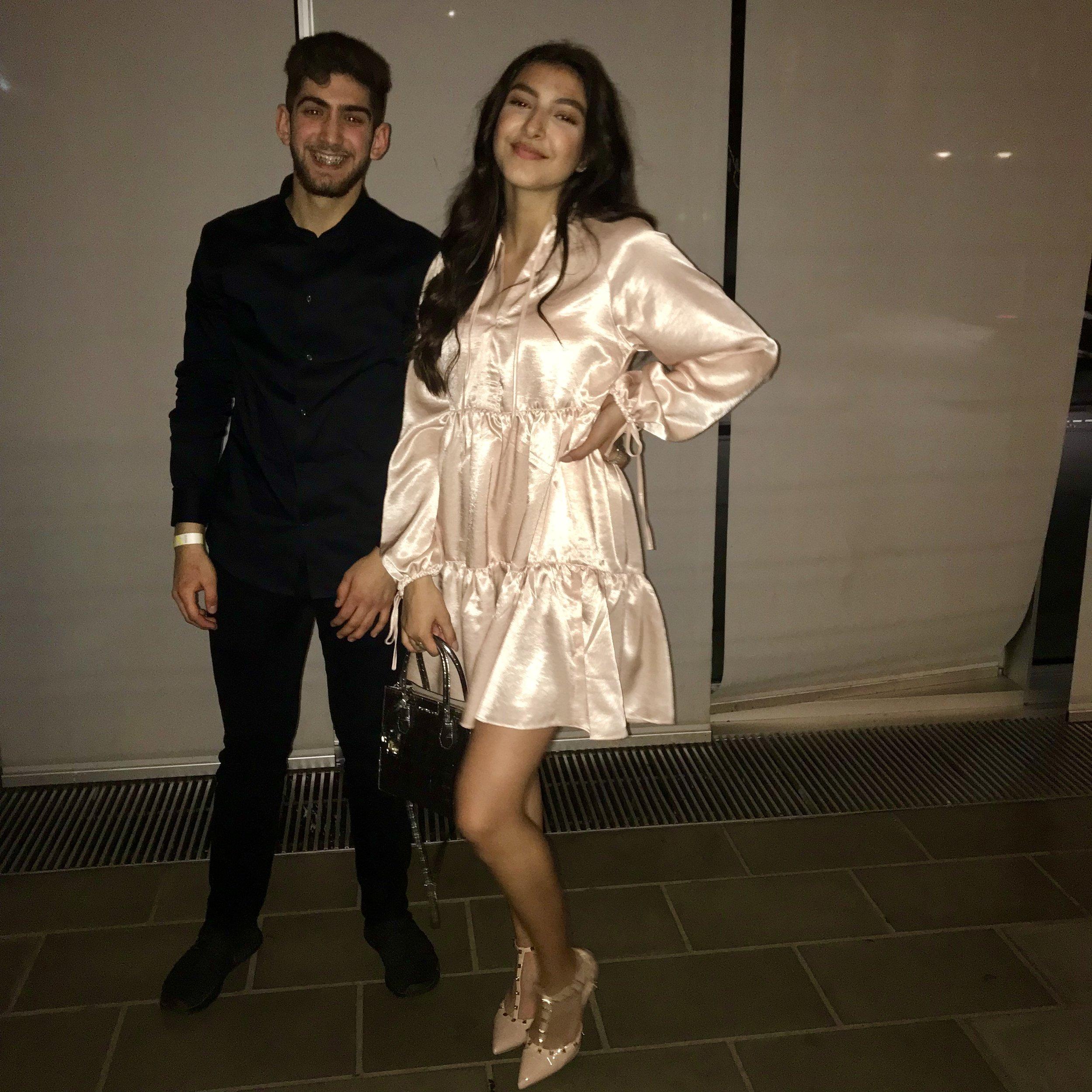 Helin og hendes ven Haidar