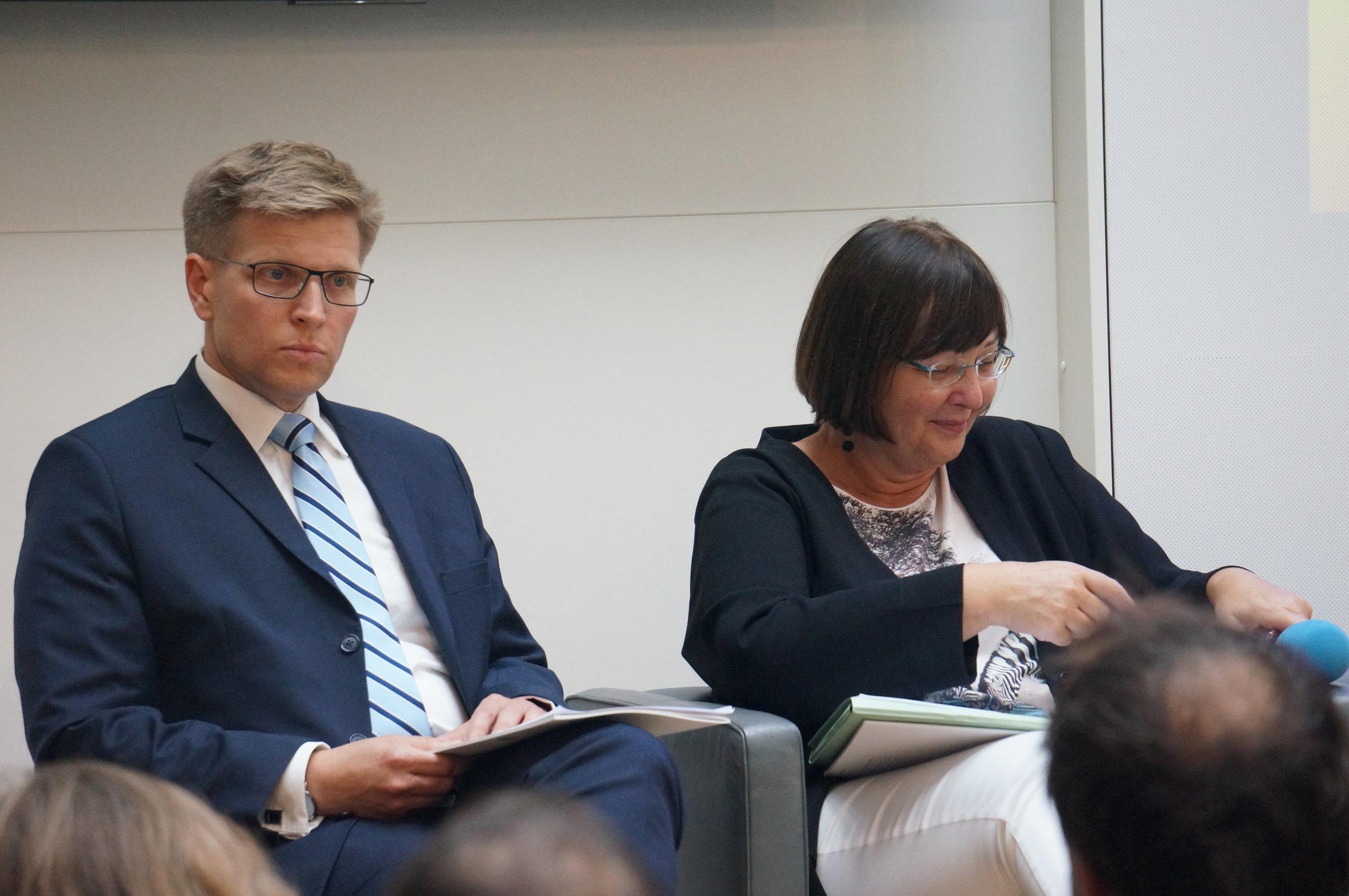 v.li.: Thorsten Lenck und Angela Köppl