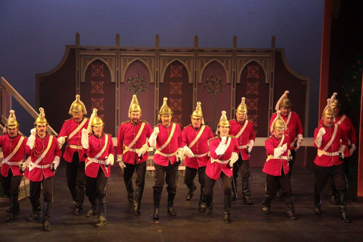Male Voice Chorus in Gilbert and Sullivan's Patience, York Theatre Royal, 2017