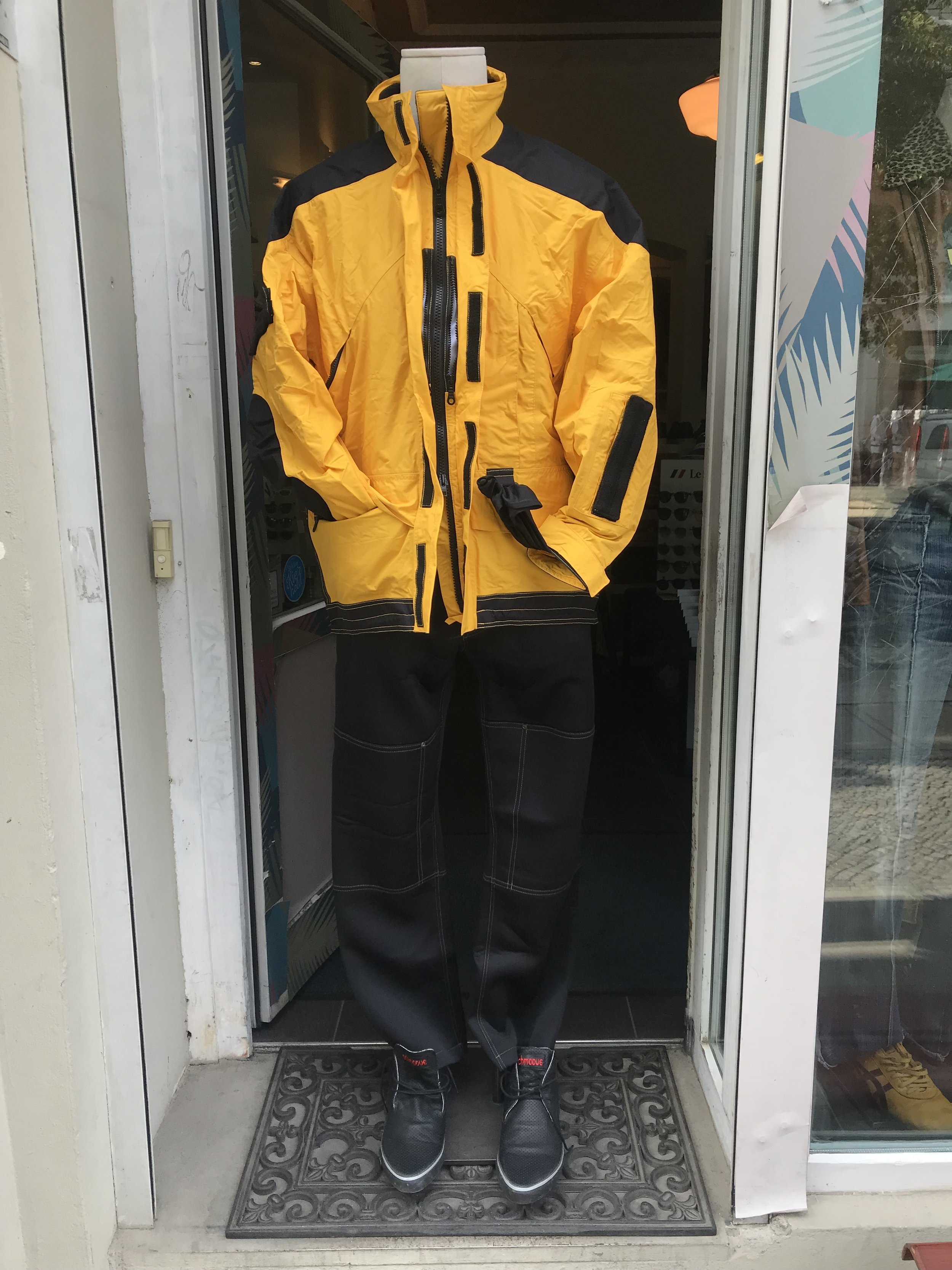 """Martin´s  QPQ  ultimate function jacket 1998/Pants from  Eisdieler  collection """"Eisdiel Air""""1997/ Schmoove  Union Desert shoe maybe 2002"""
