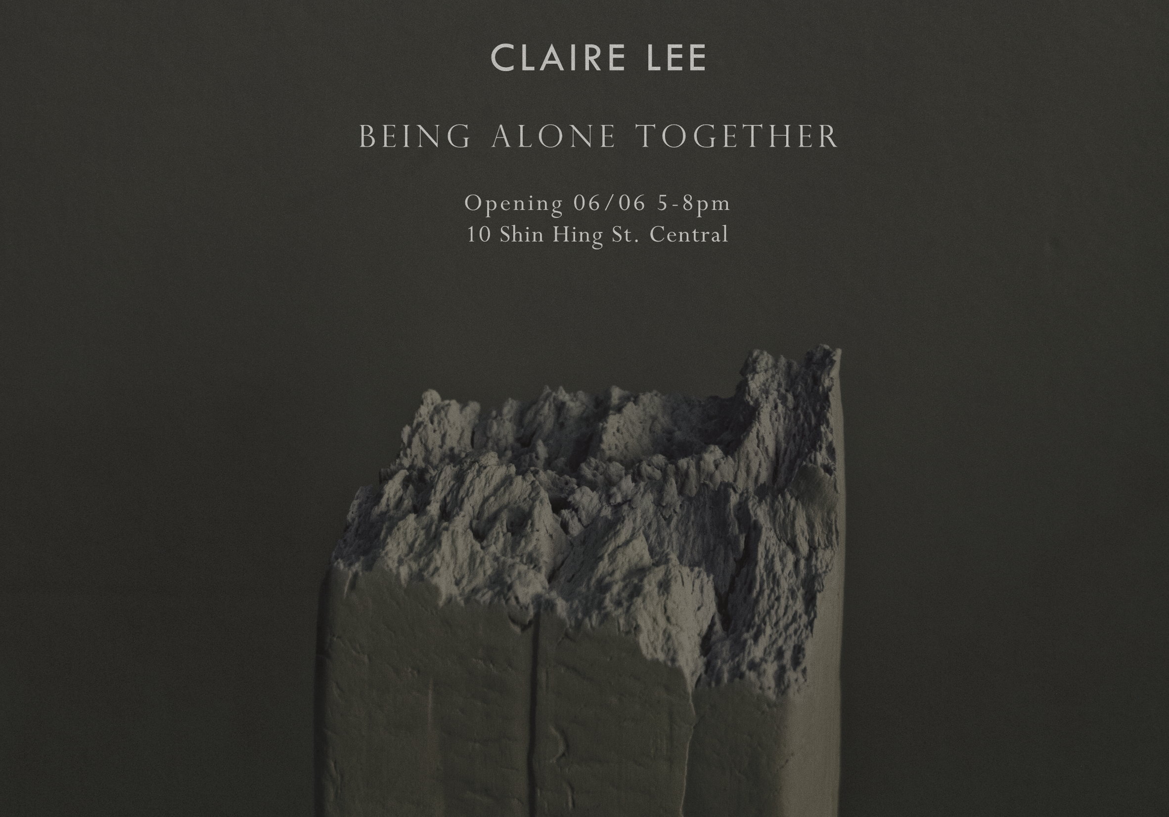 Alone We Break, but a Mountain We Make,   Claire Lee,     Artist-made clay object Giclee print on Hahnemuhle German Etching 417 x 594 mm, edition of 5 + 1 AP