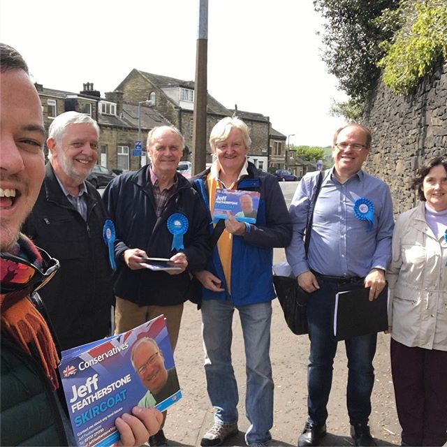 Campaigning in beautiful Halifax #yorkshire #torycanvass @conservatives