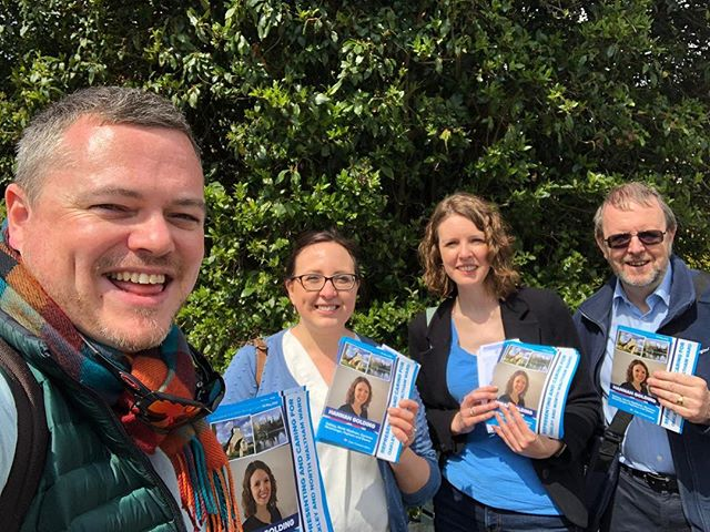 Great to be out with excellent @conservatives candidate Hannah Golding standing in Basingstoke and Deane #torycanvass