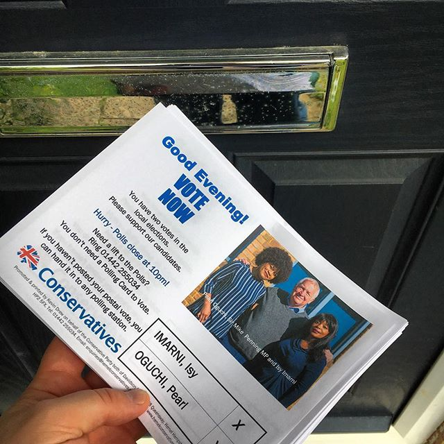 Great for @uk_ccf to be getting the vote out today #elections @conservatives