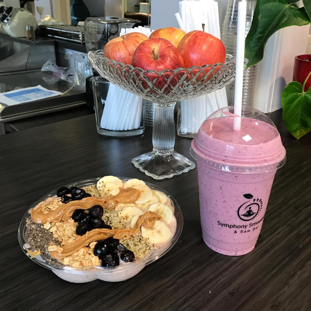 Fruit, bowls and smoothies