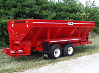 Endurance Pull Type Mechanical Spreader - Endurance Pull Type Mechanical Litter Spreaders, Shavings Spreaders, Compost Spreaders and Organics Spreader - Can Handle just about any Terrain. They are Option Rich and Litter Spreaders, Compost Spreaders and Shavings Spreaders can be customized for your specific application.