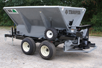 Trooper - 10 ft Trooper - BBI Fertilizer Spreader - Targeted for Fleet Application - Pull with any reasonable Towing Vehicle - Easy to Operate - 60 foot swath - Designed for Distribution of Granular Fertilizer