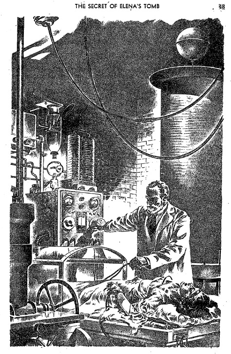 Carl Tanzler in his lab attempting to raise Elena from the dead.