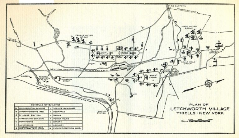 A map of Letchworth Village