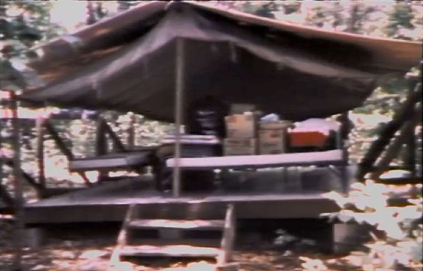 Tent #8, Camp Scott. After the investigation has begun.