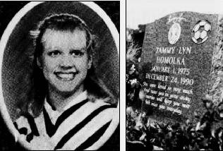 Tammy Homolka and her final resting place. She looked so vibrant and happy.
