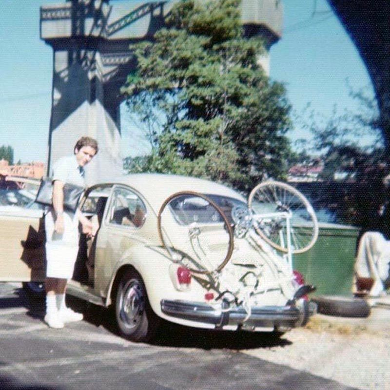 Bundy with his signature VW Bug