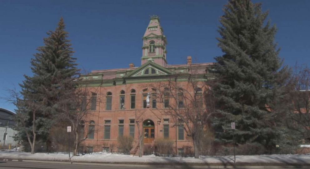 The Pitkin County Courthouse where he jumped from a second story window.