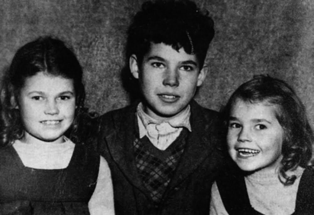 Fred with two of his sisters