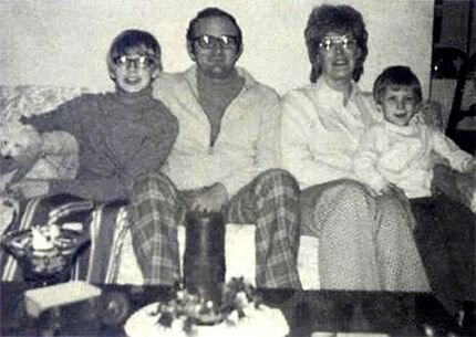 Jeffrey, his father, mother, and younger brother