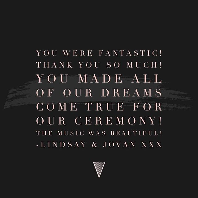 | ✨T H A N K  Y O U✨ | From the lovely Lindsay & Jovan 💛 Married at the wonderful @skylarkweddings last weekend! . . .  #thankyou #testimonial #weddingplanning #sorayaharpist #sorayavermeulenharpist #planningyourwedding #weddings #weddingsuppliers #weddingmusic #eventprofs #livemusic #wedding #shesaidyes #weddinginspo #eventplanning #couturebridal #harpist #harp #weddinginspiration #weddingdesign #instawedding #bridalmusings #luxeweddings #luxe #addthattouchofsparkle #creamofthecrop #savethedate #eastmidlands #eastmidlandswedding #loveintentionally