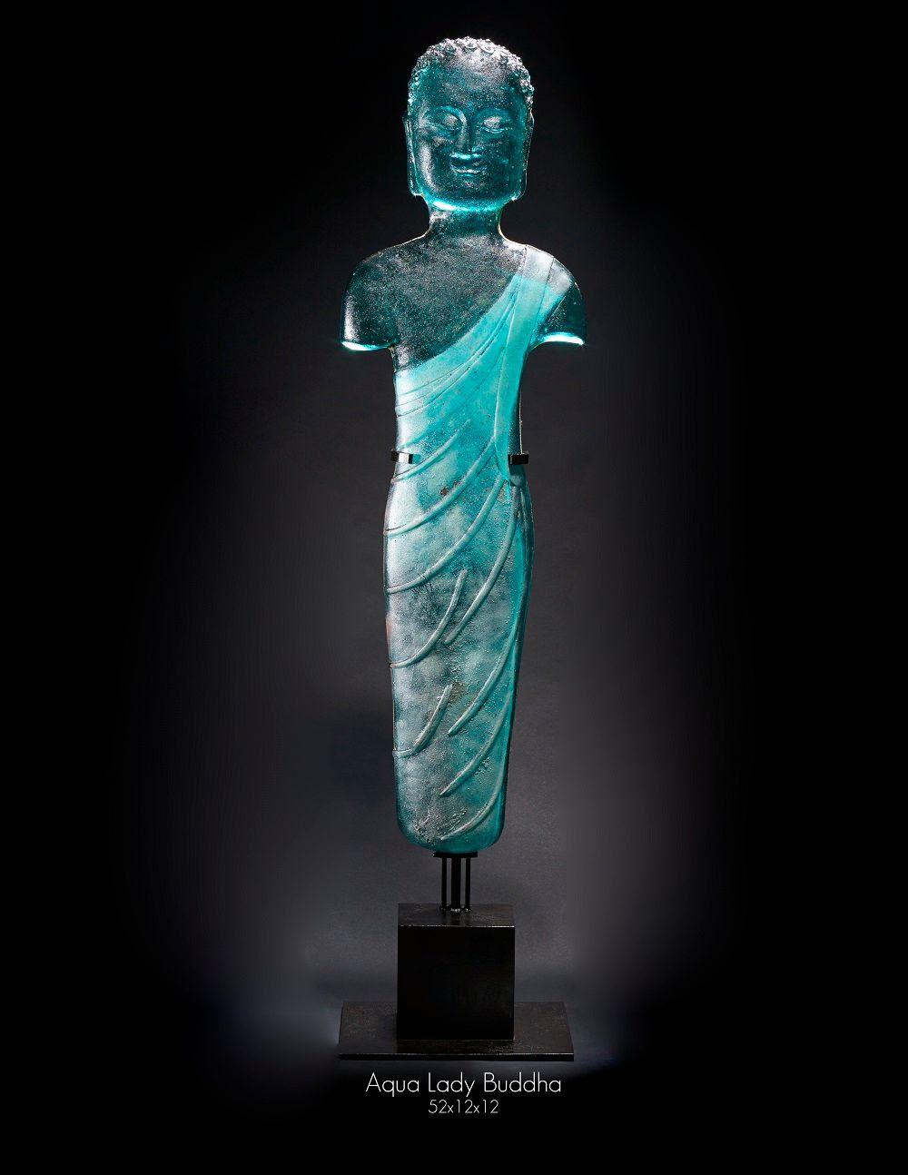 Marlene Rose, Aqua Lady Buddha 52x12x12