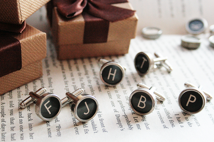 Groomsmen gifts - typewriter cuff links with your friends and family initials!
