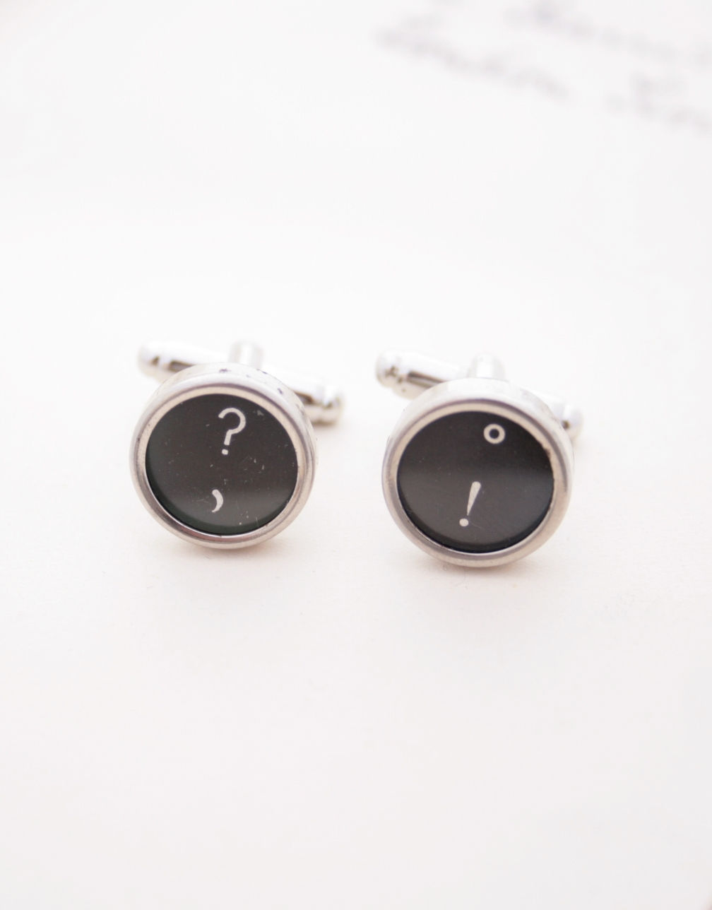 custom cuff links with typewriter keys