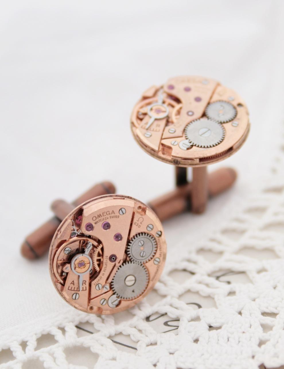 Omega cufflinks rose gold