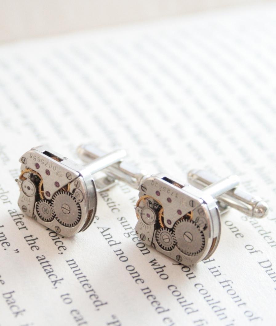 steampunk style cufflinks