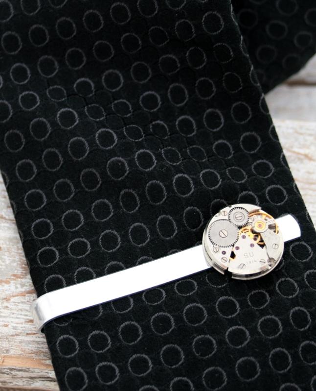 Steampunk Tie Clip Formal Wear Mens Accessories