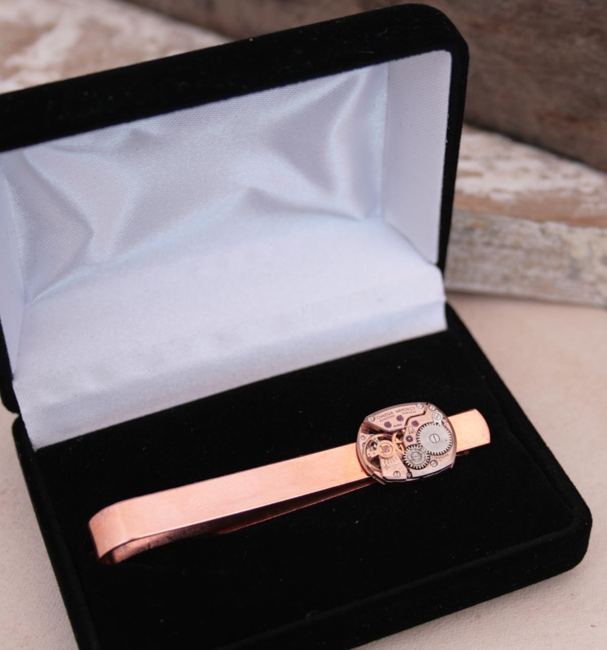 Copper Tie Clip Omega Watch Tie Bar