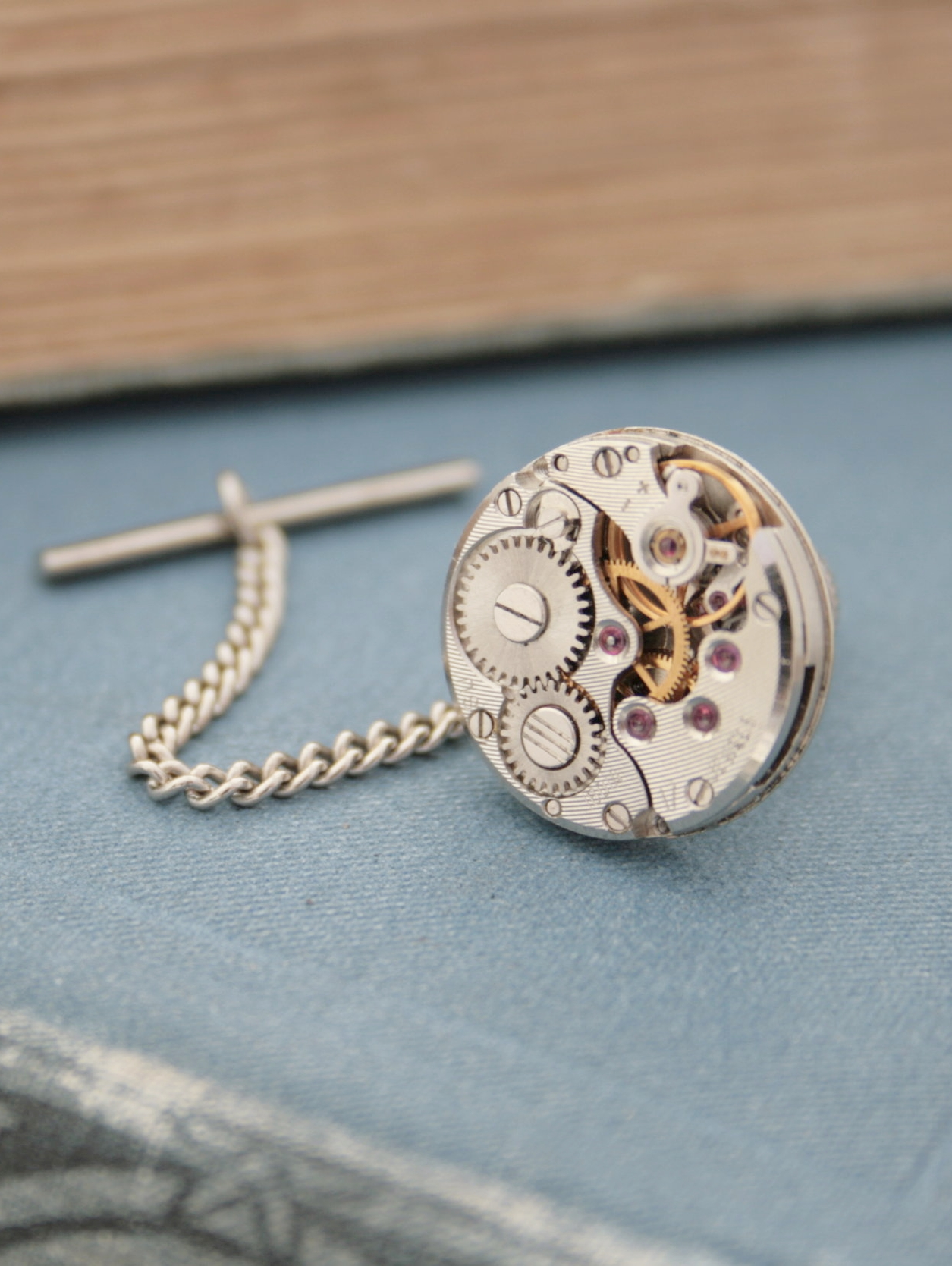 Tie Tack with Chain