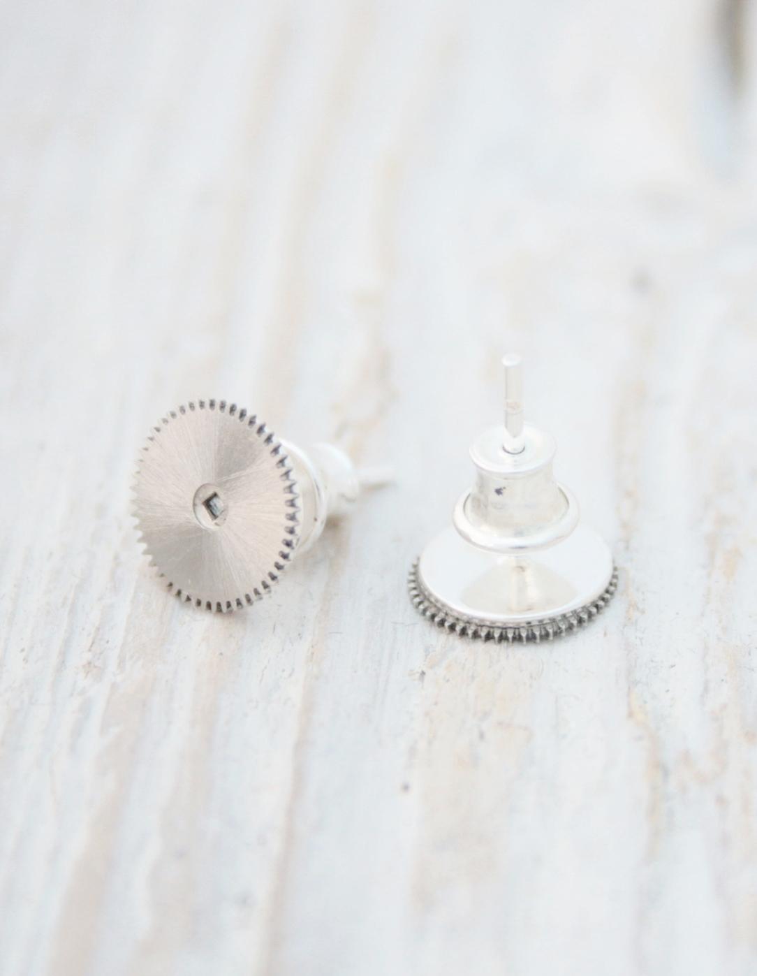 mens studs / steampunk post earrings