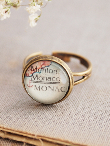 map ring personalized jewelry