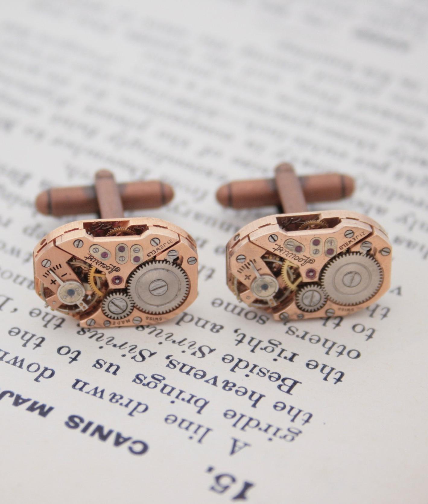 copper anniversary cufflinks